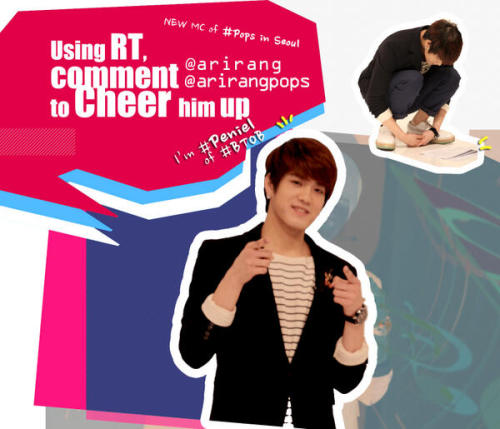 @arirangworldUsing RT, give a message of congratulation and cheering to #Peniel of #BTOB pic.twitter.com/xH0nkCc0xZ