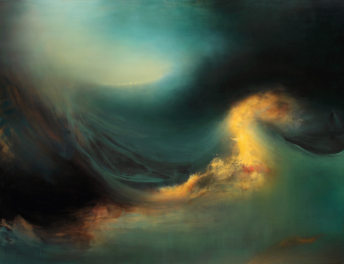 "MUTINY, 60"" x 78"", oil, enamel & shellac on canvas, 2012, by Samantha Keely Smith."