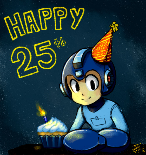 Mega Man Happy 25th Picture