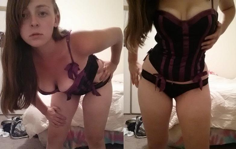 ashleyaskewis gorgeous in her purple corset
