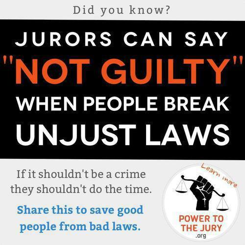 An image promoting Jury Nullification