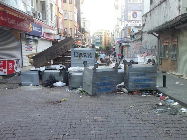 In Besiktas, barricades are still standing.
