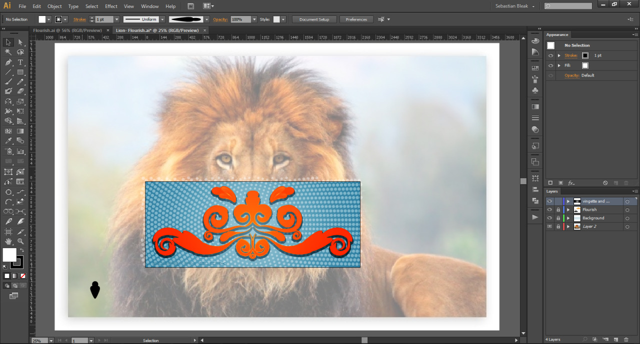 Lion design in preview mode
