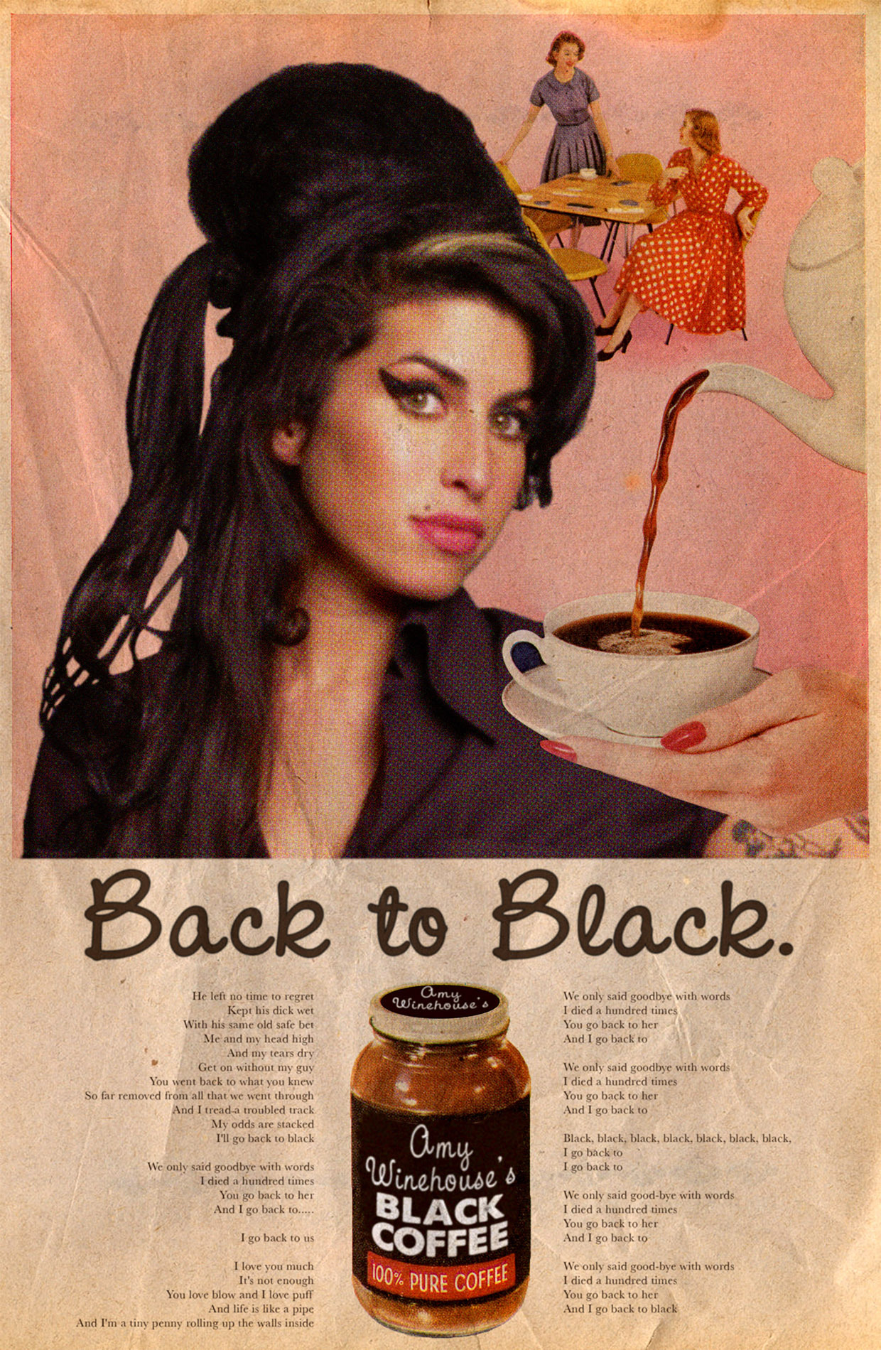 Back to Black / Amy Winehouse © Ads Libitum : facebook / tumblr / behance