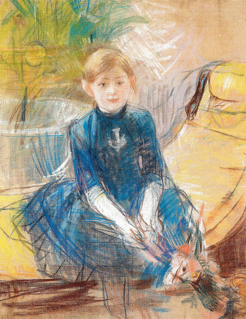 Berthe Morisot - Child with Blue Dress, 1886 (Musee Marmottan Monet - Paris France) at Museo Thyssen-Bornemisza Madrid Spain by mbell1975 on Flickr.