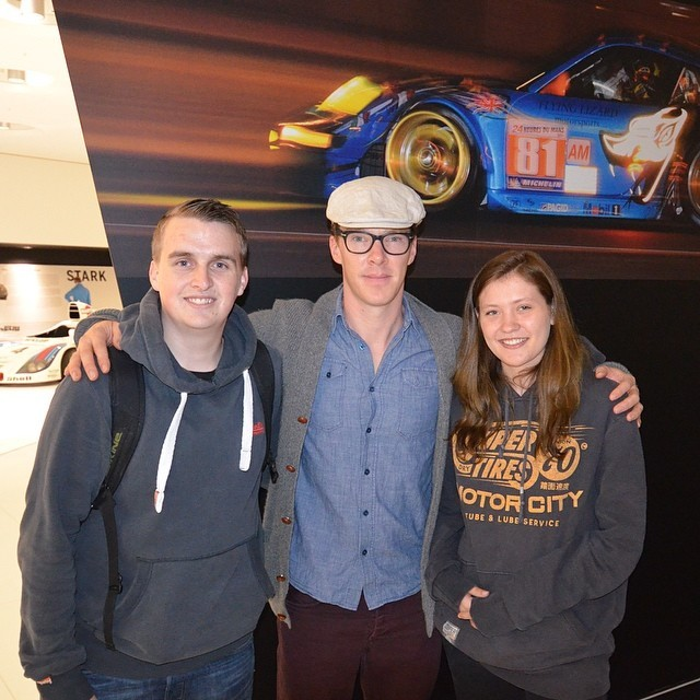 third-star-1976-sherylock:  Ben in Porsche museum http://instagram.com/p/oi25gCMSHn/  How I had missed that outfit ;)