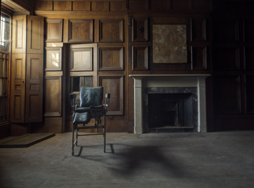fuckyeahabandonedplaces:</p> <p>Abandoned asylum, north wales, united kingdom</p> <p>Could you imagine what it felt like to be in this<br /> old asylum?<br /> A patient in the throes of horror.<br /> Strapped to a table with probes and wires<br /> attached to your body.<br /> Waves of terror pulsing through your body.<br /> Praying and hoping that you weren't on<br /> the list for a lobotomy.<br /> I could hear their screams and feel their pain.<br /> A sad time in history.</p> <p>