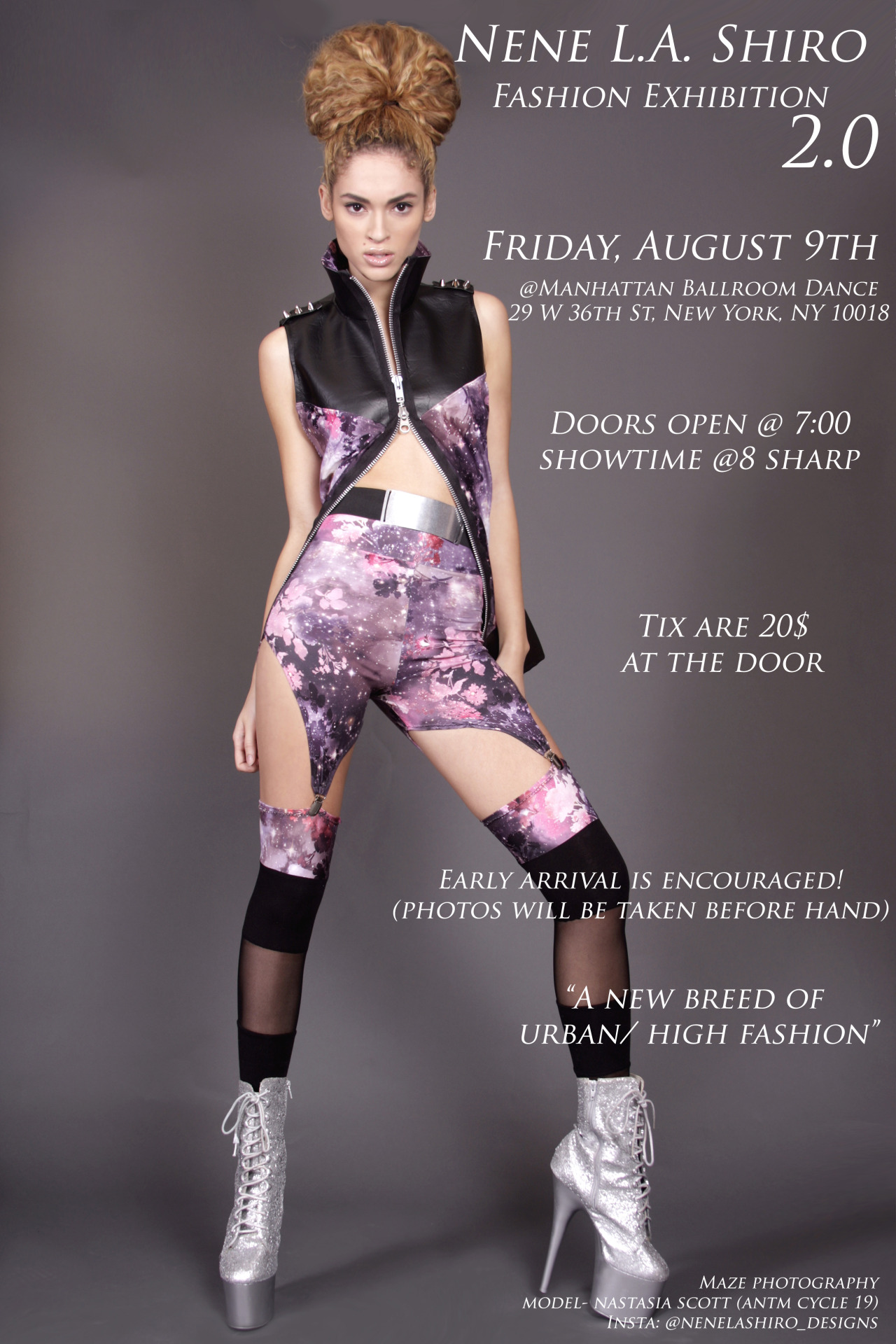 This Friday, NeNe La Shiro hosts their annual fashion exhibition at the Manhattan Dance Room. Tickets $20 at the door. Guess who has two free tickets for you and a guest?  That's right. How to win you ask? Simply Like BlackFashion on Facebook and let us know your favorite album of 2013 so far. No Facebook, don't sweat it; Follow & Tweet us your favorite album of 2013 so far. Or you can simply leave a comment with your your favorite album of 2013 so far in our disquis box below. MAKE SURE YOUR ASK BOX IS OPEN. Two winners will be announced this Wednesday at 7:00pm enough time to get your outfits together.