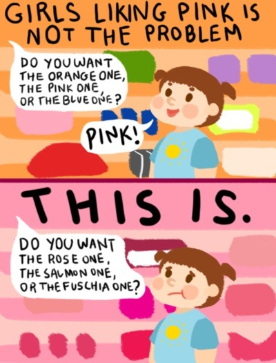 The problem with pink and gendered constructs in general.