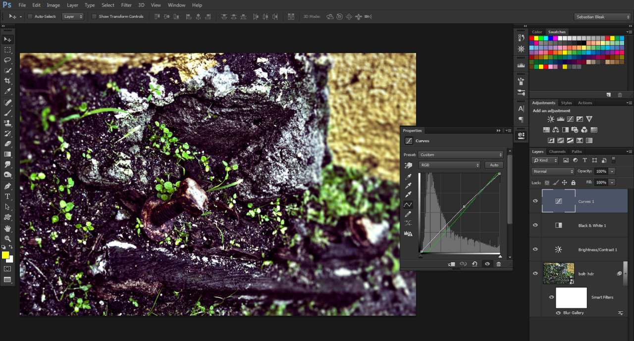 Adjustment layers in Adobe Photoshop CS6