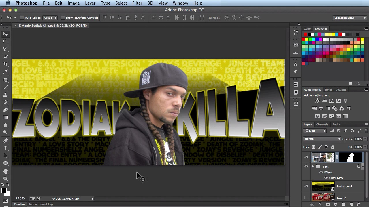 Before Apply Image in Adobe Photoshop CC