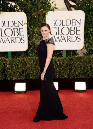 Emily Deschanel sul red carpet dei Golden Globe 2013