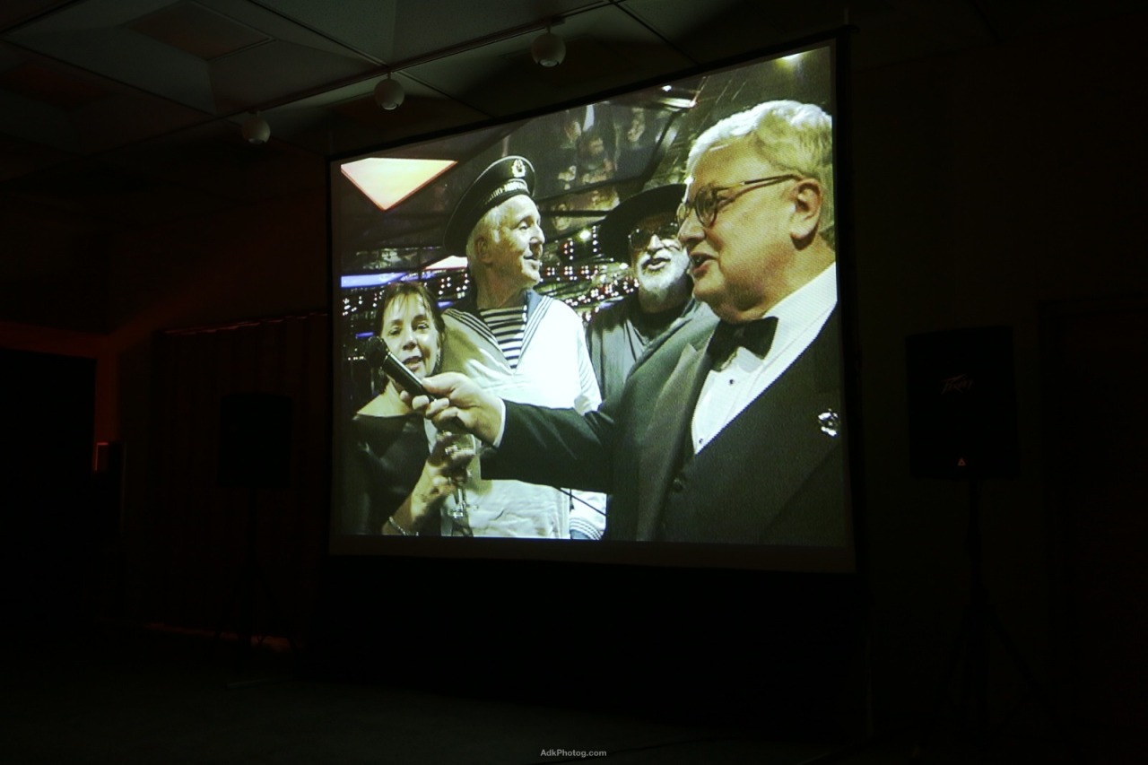 Roger Ebert tribute by Nathan Farb at the Lake Placid Film Forum, photo by Jordan Craig