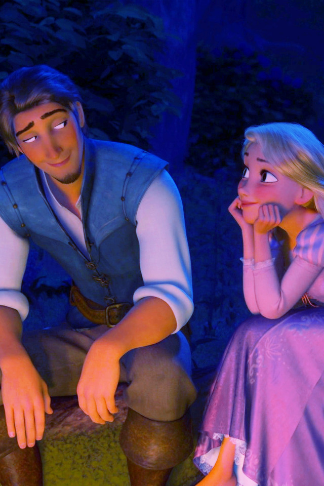 Image result for rapunzel and flynn iphone