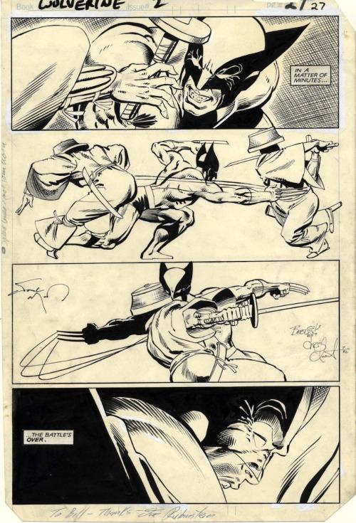 Wolverine #2, Page 27 by Frank Miller & Joe Rubinstein
