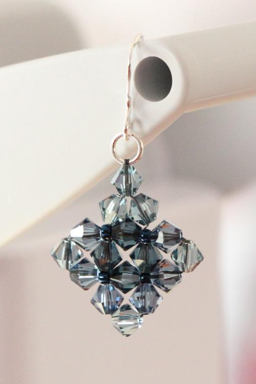 Sapphire romance earrings