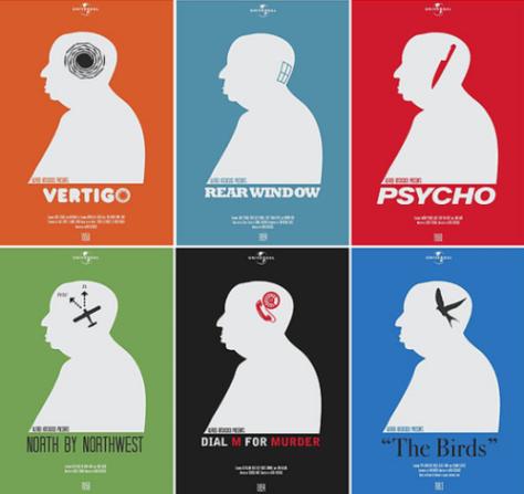 creatieve Hitchcock posters