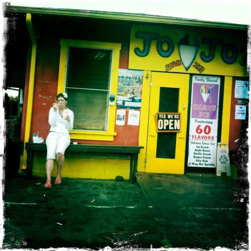 Best shave ice on Kauai: Jo Jo's on the West Shore.