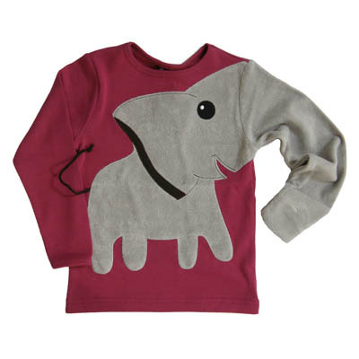 "Long-Sleeve Tee of the Day: ""Elephant"" hand-puppet T-shirt from Ubang. Summed up rather nicely by Redditor flossdaily: This is the sort of shirt that will get you ridiculed in high school, but get you laid in college. [reddit.]"