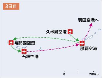 プロペラ機で日本列島を大縦断