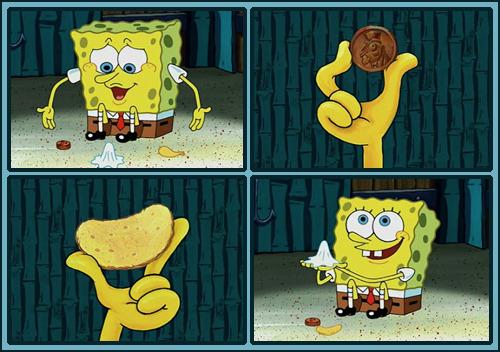 Chip Meme Penny Spongebob
