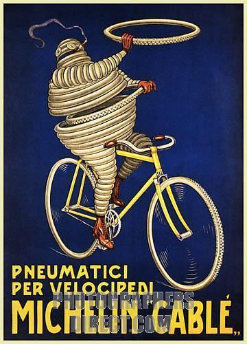 1920s 30s Bibendum Michelin Man Posters Violet S