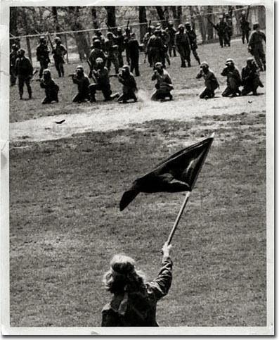 Kent State massacre, Ohio National Guard shooting students
