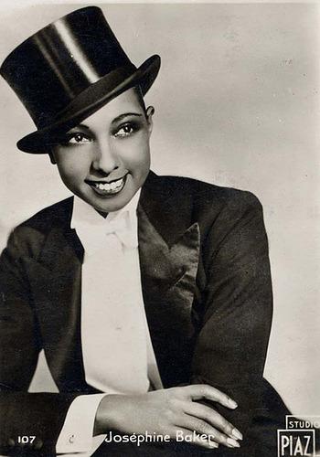 Josephine Baker looking dandy in a suit