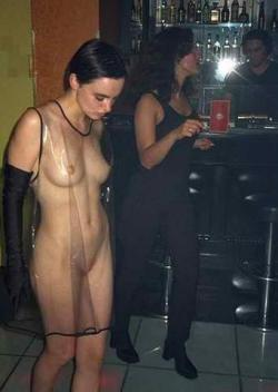 see through dress no bra