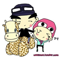 [FANART] GD+TABI AND GIRAFFE(!?)