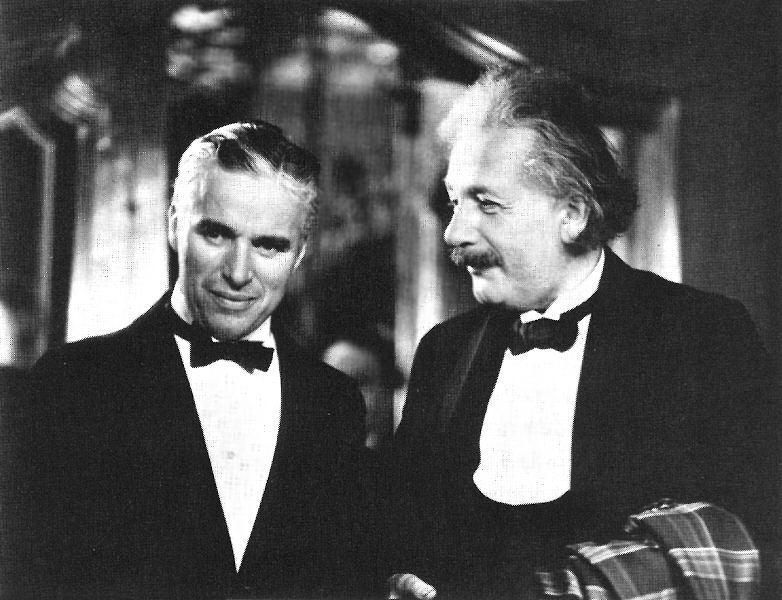 Charlie Chaplin y Albert Einstein