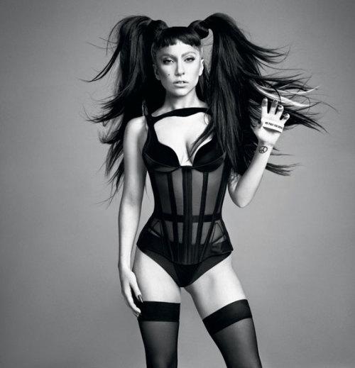 Lady Gaga by Inez van Lamsweerde and Vinoodh Matadin for V Magazine and the CFDA Awards program.