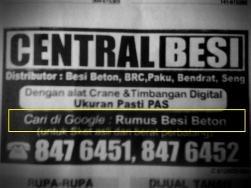 Cari di Google: Rumus Besi Beton (via @15june)