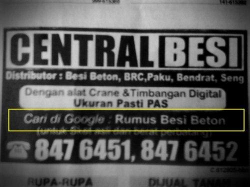 Cari di Google: Rumus Besi Beton (via @15june)