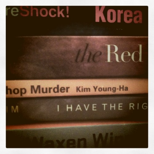 to read list, Korean literature version. (Taken with instagram)