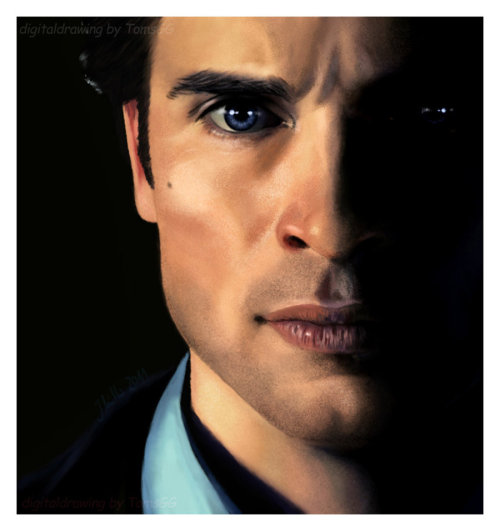 nine-mue:</p> <p>Tom Welling aka Clark Kent. Yeepp a new digitaldrawing of his beautiful face :-) i really hope we'll see him on screen again…SOON! Just want to share with all fans, hope you like it!<br /> it took 20 hours - and i loved every minute working on it  :-)<br />