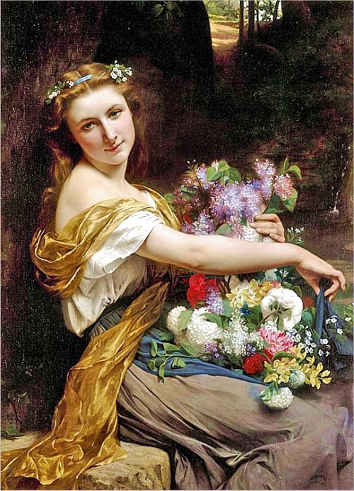 Pierre-Auguste Cot (Pierre Auguste Cot) (1837-1883)DionysiaThe Dionysia was a large festival in ancient Athens in honor of the god Dionysus, the central events of which were the theatrical performances of dramatic tragedies and, from 487BC, comedies.It was the second-most important festival after the Panathenaia. The Dionysia actually consisted of two related festivals, the Rural Dionysia and the City Dionysia, which took place in different parts of the year. They were also an essential part of the Dionysian Mysteries.