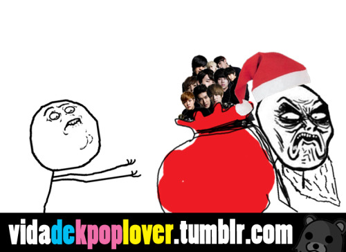 Santa all I want for Christmas is KPOP
