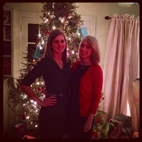Sisters - heading off to 11pm church after our pasta dinner (Taken with instagram)