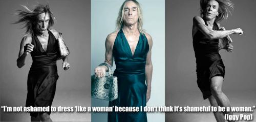 Iggy Pop wearing a dress