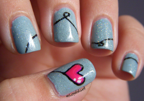 A heart balloon manicure from Beautylish Beauty Michelle C. - cute!