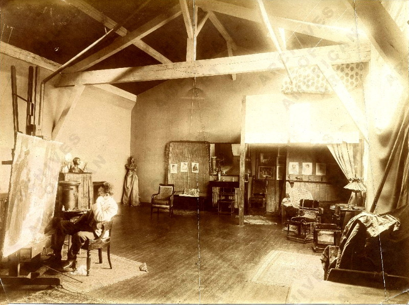 Henry Ossawa Tanner in his studio, c. 1900   Smithsonian