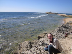 In Cadiz with friends! Here's Katherine.