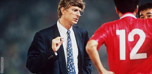 Arsene Wenger,when he was managing Japanese club Nagoya Grampus Eight.