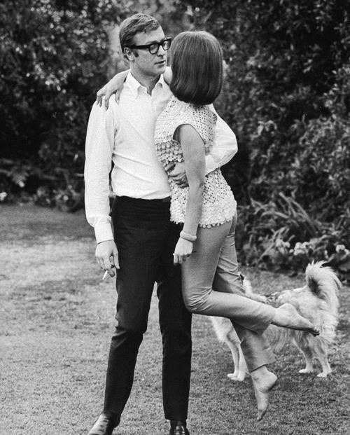 historiful:</p> <p>Actress Natalie Wood (1938-1981), with actor Michael Caine (b. 1933), date unknown.<br />