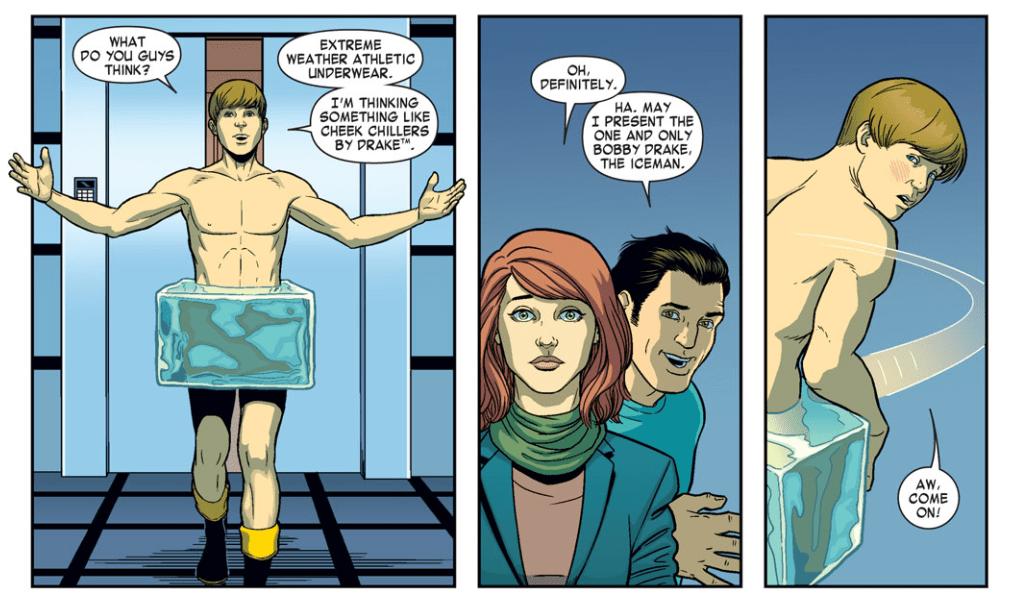 Comic panel: Bobby/Iceman