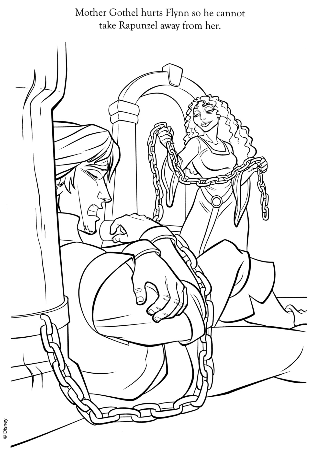 The Art Of Tangled Mother Gothel Hurts Flynn So He