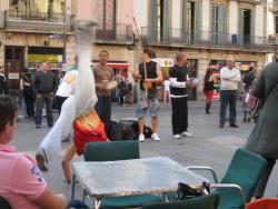 Capoeira street performers