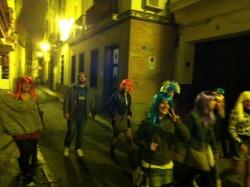 Walking the streets of Sevilla. Yup.