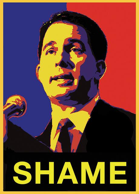 Scott Walker - Shame poster